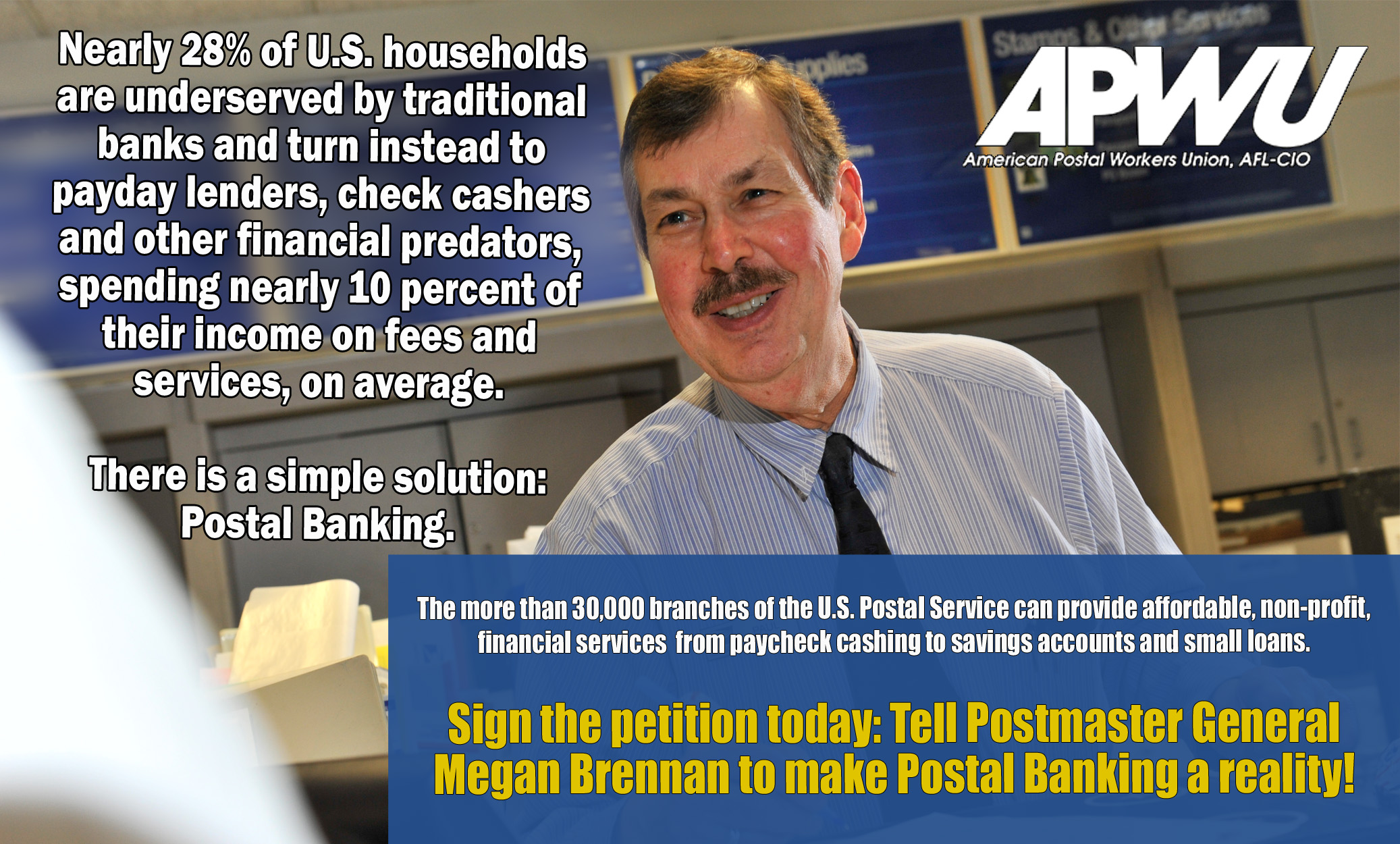 Apwu Tell The Postmaster General Make Postal Banking A Reality