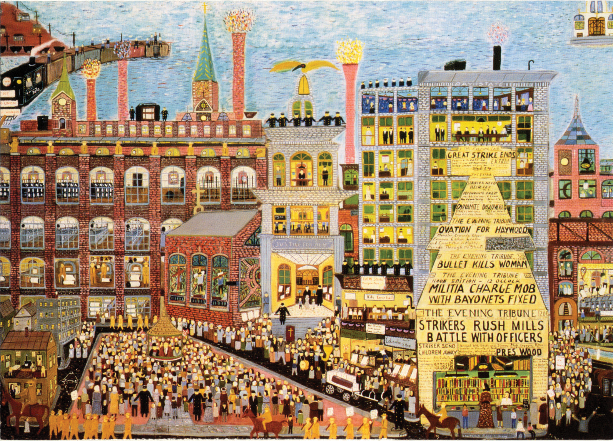 Ralph Fasanella Self Taught Artist Chronicled Workers
